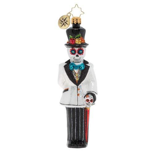 Christopher Radko Hand-Crafted European Glass Christmas Decorative Figural Ornament, Dia De Los Muertos Dapper Groom (Dia Bride Los De Muertos)