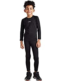 COOLOMG Boys&Girls Thermal Base Layer Set Warm Compression Shirt + Pants for Kids Youth