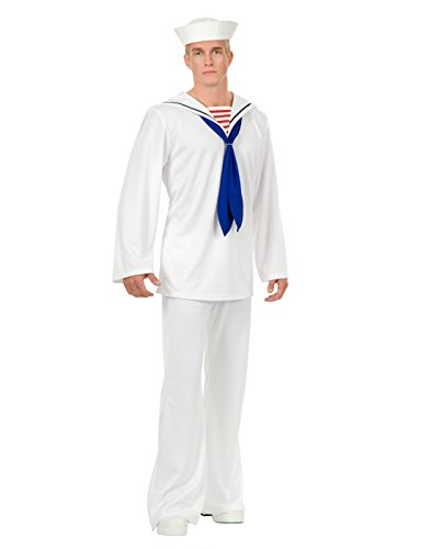 White Sailor Suit Adult Costume - X-Large (Computer Halloween Costume Ideas)