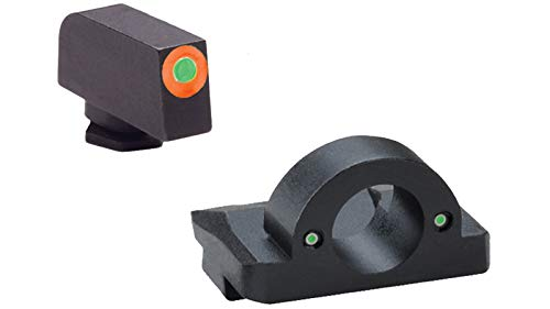 AmeriGlo Ghost Ring Style Night Sights,Green Tritium/Orange Outline Front GL-5225