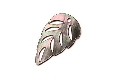Marquis Cut-Out Leaf Shell Charms 17x32x1mm sold per 2pcs/pack (3packs bundle), SAVE $2