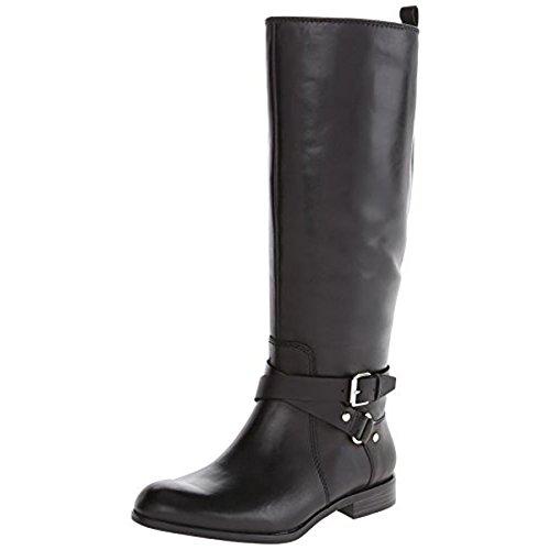Enzo Angiolini Women's Daniana Wide Riding Boot, Black, 6 M US (Enzo Footwear Angiolini)