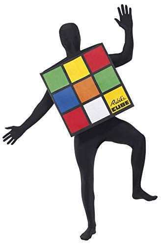 Smiffys Rubiks Cube Adult Costume,Multi,One Size
