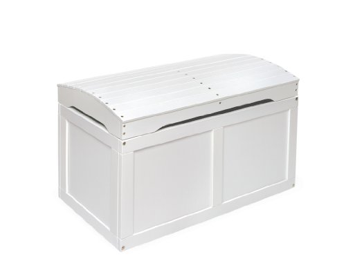 Badger Basket Barrel Top Toy Box, White from Badger Basket