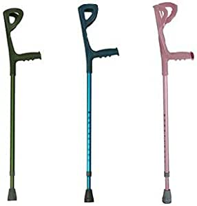 lightweight Forearm Crutches - Red