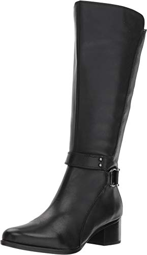 Naturalizer Women's Dane Wide Calf Black Leather 10 M US M (B)