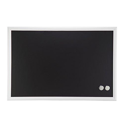 U Brands Magnetic Chalkboard, 20 x 30 Inches, White Wood (30
