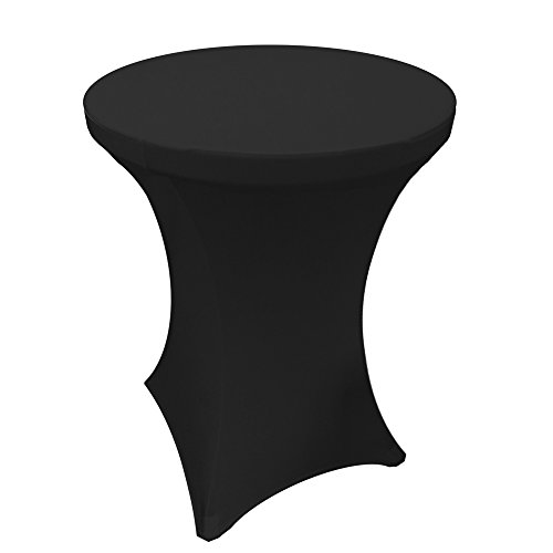 36 Inch Round By 42 Inch Spandex Tablecloth For Cocktail Table (36' Cocktail Table)