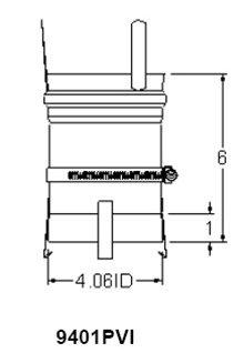 Heat Fab 9401PVI Saf-T Vent EZ Seal - 4'' PVI Power VT Adapter