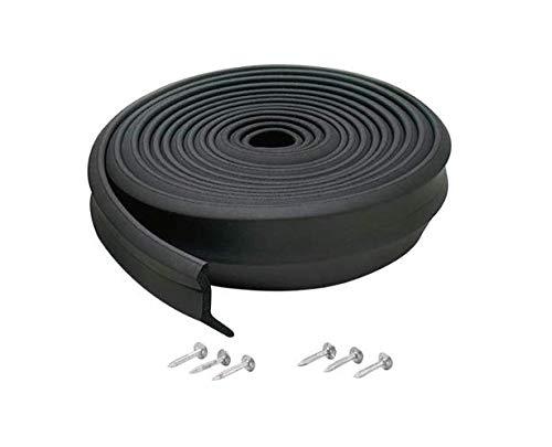 M-D Building Products 3749 Garage Door Bottom Rubber, 16 Feet, Black (3 (Best M-d Building Products Garage Doors)