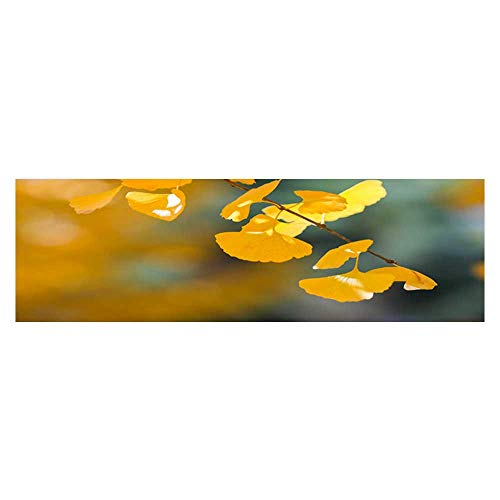 Fish Tank Decorations Apricot Leaves in The Late Autumn HD Fish Tank Decorations Sticker L23.6 x H11.8