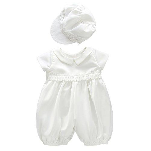 Moon Kitty Baby Boy's Cotton Lining Christening Outfits 2PCS Newborn Baptism Wedding Suit Ivory