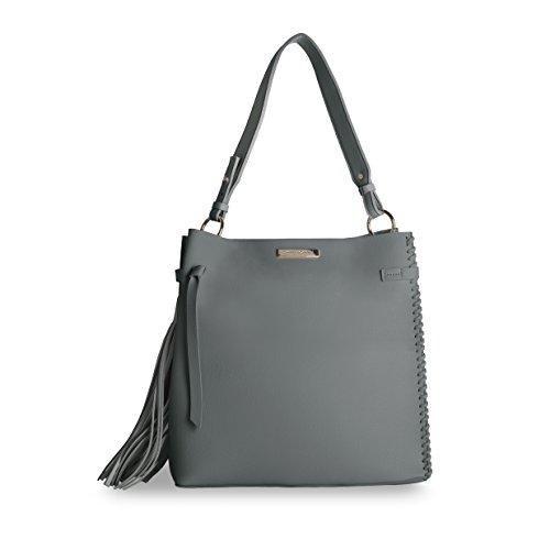 Katie Loxton Sac pour femme à porter à l'épaule gris charbon