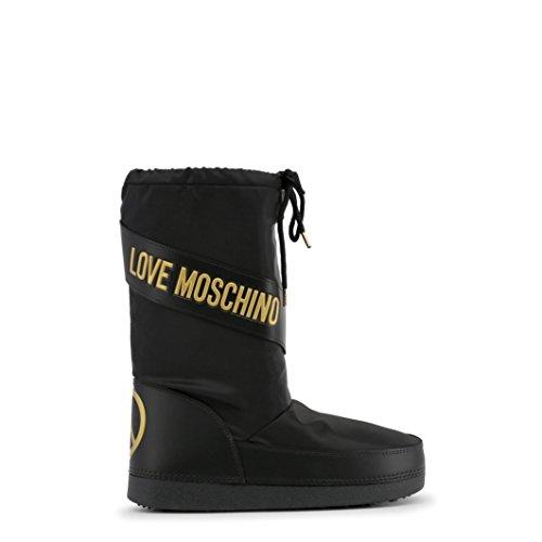 Snow Moschino Boot Scarpe Love Nylon Nero Peace D19MO15 Donna PEgEO