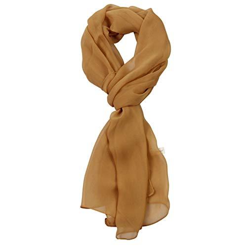 Buy silk scarf gold