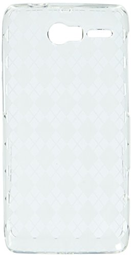 Asmyna MOTXT907CASKCA036 Argyle Premium Slim and Durable Protective Cover for Motorola Droid RAZR M XT907-1 Pack - Retail Packaging - Clear