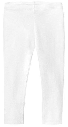 City Threads Baby Girls' Cotton Cropped Capri Summer Legging for Play and School SPD for Sensitive Skin Sensory Friendly, White, 18-24 m ()