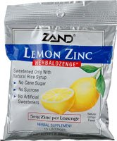 Herbal Lozenge-Lemon Zinc Zand 15 Lozenge, Pack of 12