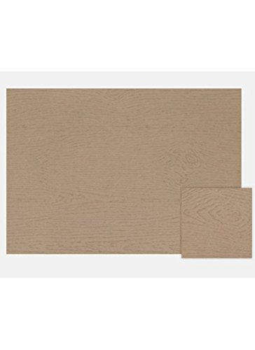 A7 Flat Card (5 1/8 x 7) - Wood Grain Oak (1000 Qty.) | Perfect for Personal Stationery, Business Correspondence, Invitation Inserts, and more! | 4040-S01-1M by Envelopes.com