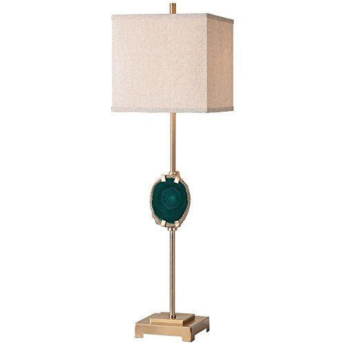 Uttermost 29032-1 Achates Emerald Agate Buffet Lamp (Linen Table Square Uttermost Lamp)
