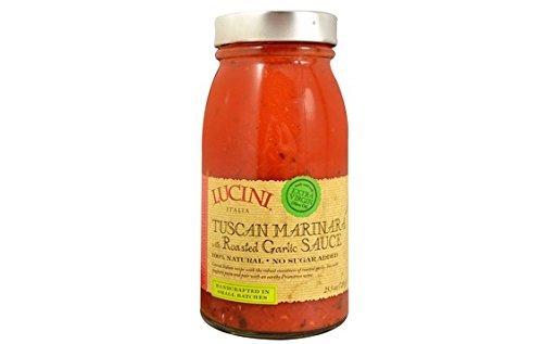 Lucini Tuscan Marinara with Roasted Garlic Sauce, 25.5 oz (Pack of 4) ()