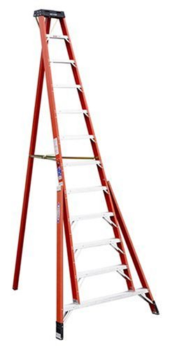 Werner FTP6212 300-Pound Duty Rating Fiberglass Tripod Ladder, 12-Foot by Werner