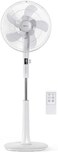 Ventiladores Con Base Pro Breeze Ventilador de Pedestal DC 40 cm Cuchillas Dobles. Potente y de Baja Energía