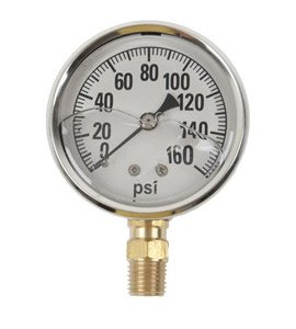 GAUGE-160 PSI LIQUID FILL SS CASE (Fill Ss Gauge Liquid)