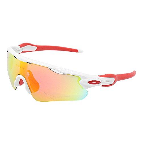 a6547f93128c7 ZoliTime Gafas de Sol Oakley Radar EV Path para Hombre Gafas de Ciclismo  (Blanco)