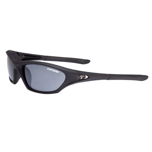 Tifosi Core 0200400170 Wrap Sunglasses,Matte Black Frame/Smoke Lens,One - Prescription Budget Sunglasses