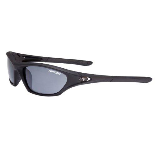 - Tifosi Core Wrap Sunglasses, Matte Black/Smoke Lens. One size