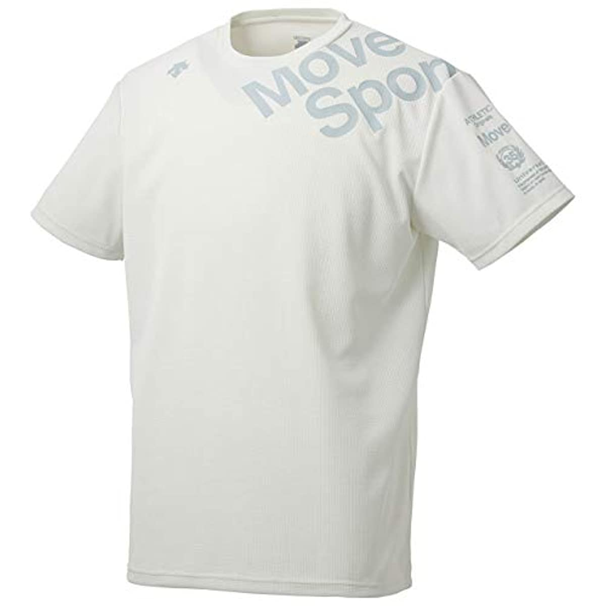 [해외] 데상트 Quattro콰트로센사한소데T셔츠 Quattro콰트로센사 반소매T셔츠 흡한 속건 고속 소취흡방습 UV컷UPF 맨즈 WH 일본 일본 사이즈2L상당
