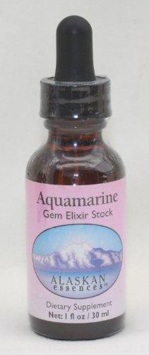 Alaskan Essences Aquamarine Gem Elixir Stock Dietary Supplement 1 oz size