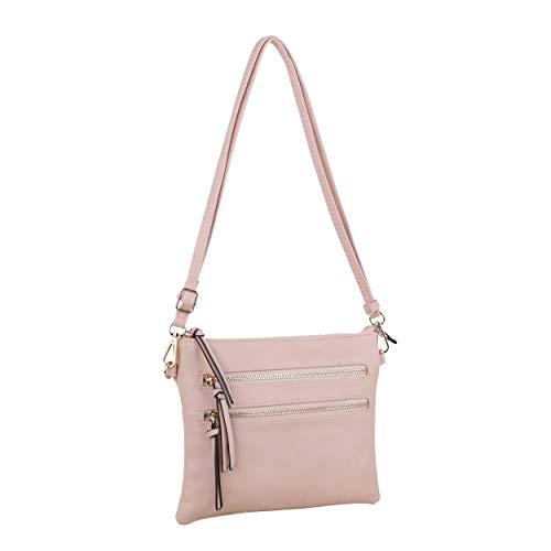 Isabelle Functional Women's Crossbody Shoulder Bag (Dark Blush)