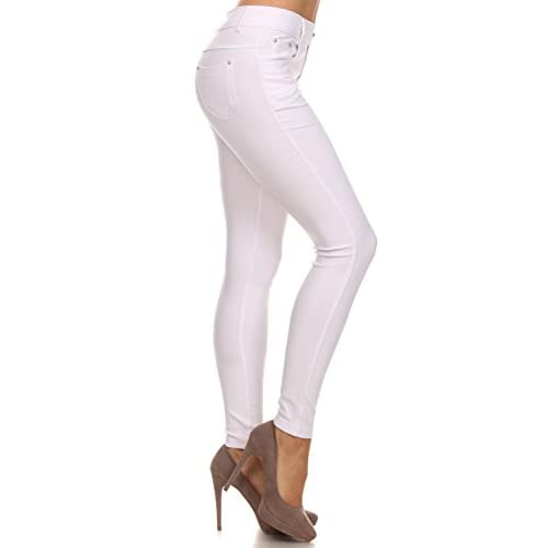 ad888a5e13e849 durable service Long Jeggings for Women Skinny Stretch Fitted Pull On Jeggings  Pants, Pockets