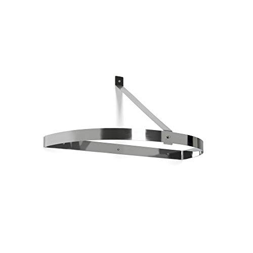 Fox Run 74933 Hanging Half-Circle Pot Rack, 12.75 x 26 x 1.75 inches, Metallic