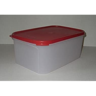 Tupperware Modular Mates Rectangular 2 Container in Red