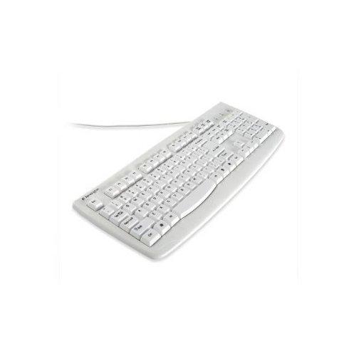 (Kensington K64406US Washable USB/PS2 Keyboard - USB PS/2 - 104 Keys - White)