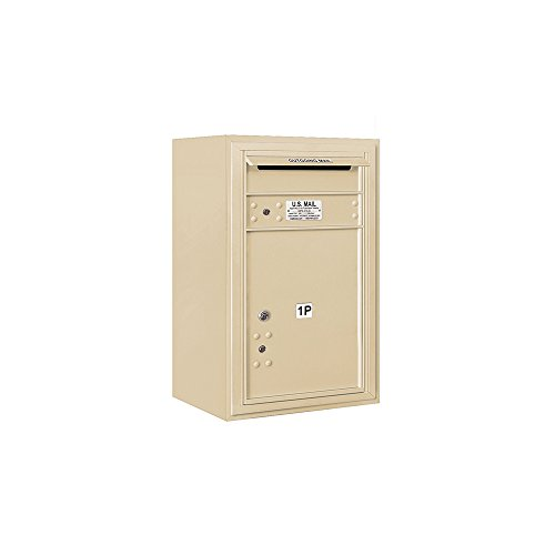 Parcel Locker Access Aluminum Usps - Salsbury Industries 3807S-1PSFU 4C Surface Mounted Horizontal Mailbox, Front Loading, Stand Alone Parcel Locker, 1 PL5, Usps Access, Sandstone