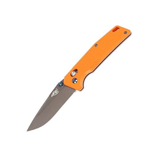Firebird Folding Knife F7603 by Ganzo Pocket Folding Hunting Knife G-10 Handle SS Blade (Orange) with ball bearing pivot