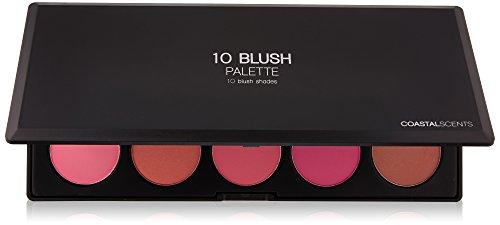 - Coastal Scents 10 Piece Professional Blush Palette