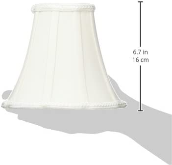x DS-91-18WH x 12.5 Inc Royal Designs Scalloped Oval Bell Designer Lamp Shade 18 x 14 9 x 7 White,
