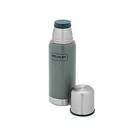 Doppelwandige Isolierung Stanley Adventure Vakuum-Thermosflasche 0.75 Liter 18//8 Edelstahl Isolierflasche Thermoskanne integrierter Thermobecher