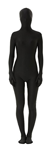 Second Skin Muscle Costume (antaina Black Full Body Lycra Sexy Second Skin Unitard Zentai Supersuit,XL)