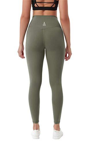 Yogas Asana workout-leggings voor dames, met zakken, hoge taille, volledige lengte, buikcontrole, 4-weg stretchbroek…