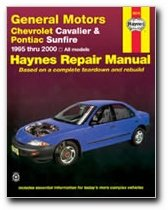haynes general motors chevrolet cavalier and pontiac sunfire 95 rh amazon com Vehicle Repair Manuals Haynes Repair Manuals Online