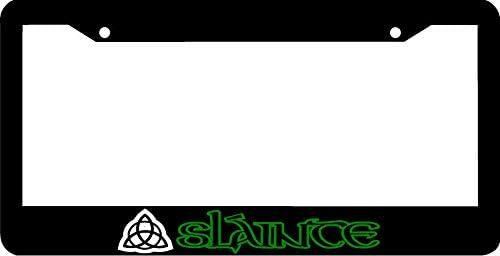 SLAINTE TRIQUETRA Sláinte Irish Gaelic License Plate Frame