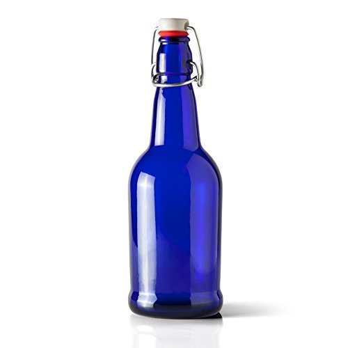 Packaging Options Direct B00RKJIAGA FBA_N7QY13V 16 Oz Blue Beer Bottle's with EZ Flip Top Cap-Case of (Glass Triple Display Case)