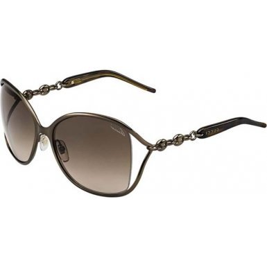Gucci Women's Twist Sunglasses, Bronze/Brown Gradient, One - Sunglasses Butterfly With Gucci