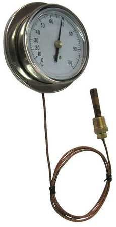 Analog Panel Mt Thermometer, 0 to 160F by Materro